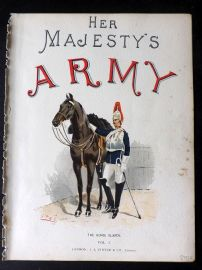 Richards Her Majesty's Army 1890 Military Print. Horse Guards Title Page